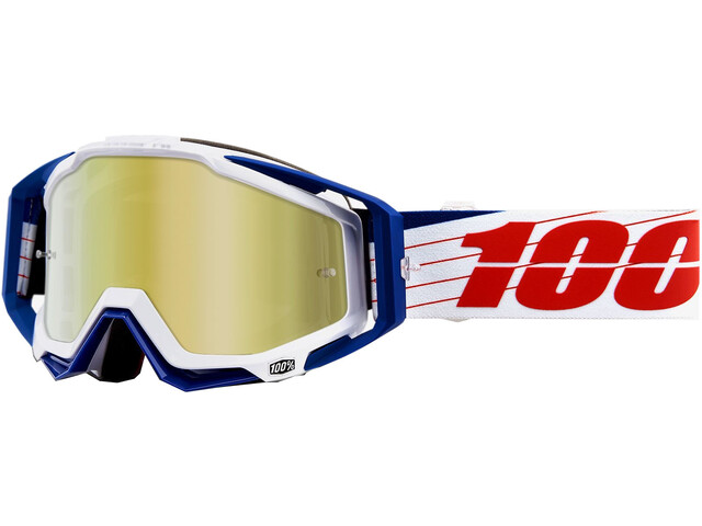 100% Racecraft Anti Fog Mirror Goggles Bibal/White